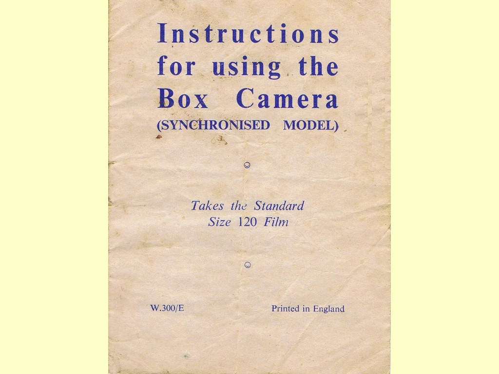 Instructions for using the Box Camera  -  W.300/E